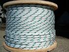 "NovaTech XLE Halyard Sheet Line, Dacron Sailboat Rope 1/4"" x 50' White/Green"
