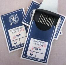 40 Schmetz Sewing Machine Needles 90/14 130 130N 15X1 Topstitch Large Eye