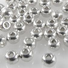 70x Metallperlen Spacer kleine Rondelle 2,4mm Perlen altsilber Metallbeads -1765