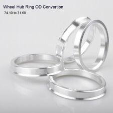 4 * Wheel Hub Centric Rings Spigot Rings Spacer Aluminium OD 74.1mm to ID 71.6mm