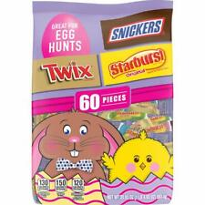 Snickers, Twix & Starburst, Chocolate Easter Candy Variety Mix Bag 60 Pieces,