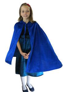 Childrens Velveteen Fancy Dress Hooded Cape Super Hero Book Week  Kings Costume