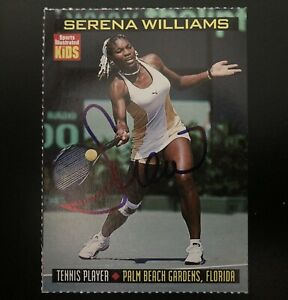 1999 Sports Illustrated SI For Kids Series 4 Serena Williams RC Auto Signed GOAT