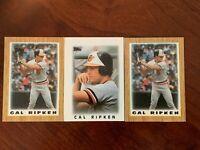 Cal Ripken, Baltimore Orioles- HOF~ 1986 & 1987 Topps Mini Leaders (Lot of 3)