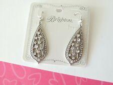Brighton Empress Teardrop Crystal Dangle Hook Earrings Nes
