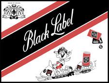 Vintage Reproduction Black Label Beer Decal