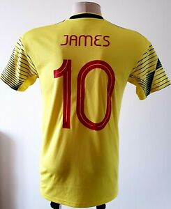 Colombia2019 Home football Adidas shirt size M #10 James