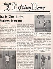 IronMan Lifting News/How To Clean & Jerk Maximum Poundages May 1959 ,5-59