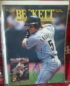 Jeff Bagwell Hand Signed Beckett Magazine Houston Astros