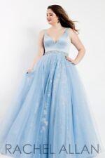 Rachel Allan 6304 Sky Blue Ball Gown Dress sz 16w