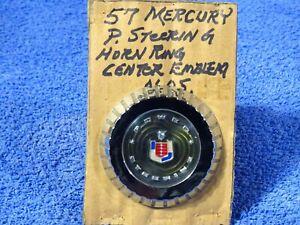 1957 Mercury Chrome Horn Ring Button Center Cap NOS