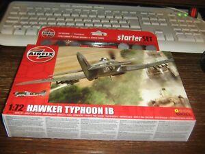 AIRFIX MODEL STARTER SET - THE HAWKER TYPHOON 1B - 1:72 - LEVEL 1