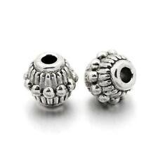 Tibetan Bicone Spacer Beads 6 x 7mm Antique Silver 30 Pcs Art Hobby Jewellery