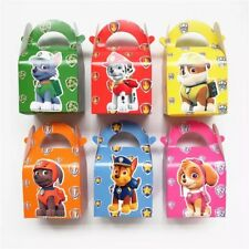 6x Paw Patrol Party Lolly Loot Box Bag. Supplies Bunting Flag Favor Balloon Cake
