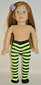 """Fits American Girl Dolls Our Generation Journey  18"""" Doll Clothes Yellow Tights"""