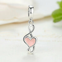 MUSICAL NOTE .925 Charm Music Pendant Solid 925 Sterling Silver Dangle Charm