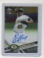 2017 Topps Chrome Rookie Autograph #RA-JC Jharel Cotton (Oakland A's)