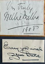 More details for dame nellie melba / zena dare  . singer actresses genuine clear autographs