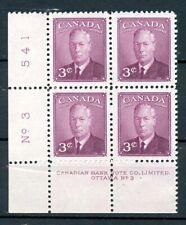Canada MNH #286 Plate Block PL 3 LL King George VI 1949   J519