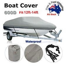 Premium Heavy Duty 600D 12-14ft 3.6-4.2m Marine Grade Trailerable Boat Cover O