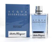 Acqua Essenziale by Salvatore Ferragamo 3.4 oz. EDT Spray Men. New Damaged Box.