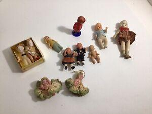 Large Group Of Vintage Miniature Dolls