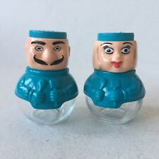 Vintage Glass & Plastic Salt & Pepper Shakers