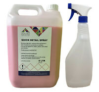 Quick Detail Spray Wax Removes Dirt Restores Shine & Protects - 5L + FREE Spray