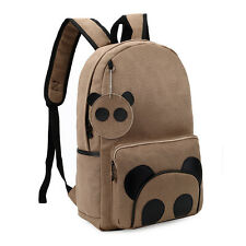Womens Girls student backpack Canvas panda bags school bookbags Satchel bag