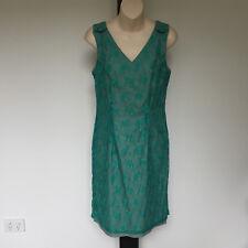'MOTTO' EC SIZE '12' AQUA LACE LINED SLEEVELESS 'V' BACK BUTTON DETAIL DRESS