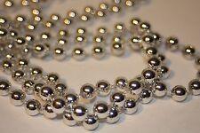 18 FT 8mm Metallic Silver Wedding Pearl Bead Rope Garland Craft Christmas Tree