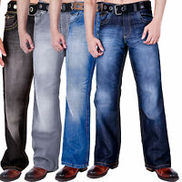 MENS BOOT CUT FIT CLASSIC JEANS LIGHTWASH DARKWASH GREY BLACK by AD