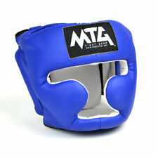 MTG Boxing Headguard Red Closed Face Synthetic Leather Sparring Muay Thai