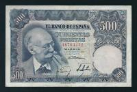 F.C. Billete de 500 pesetas de 1951, Serie A, MBC- (VF-), con apresto original.