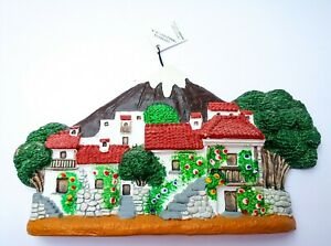 Decorative Ceramic Moulding of Lanzarote Volcanic Village Handcrafted