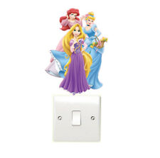 Disney Princess Light Switch Wall Stickers Children's Girls Bedroom