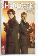 Sherlock Holmes A Study In Pink 1 Titan 2016 VF Photo Cover Benedict Cumberbatch