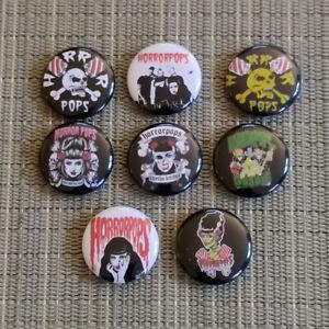 8 HorrorPops / Button / Pin / Badge / 1 Inch / 25 mm / Psychobilly / Rar / Top