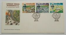 1998 Malaysia KLIA Airport 3v Stamps FDC (Kuala Lumpur Cachet) Minor Tone, Offer