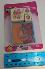 Shopkins Stamp Set w/ 3 Stamps & 1 Ink Pad for Paper Crafts, Scrapbook, etc. NEW