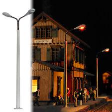 BUSCH 4138 échelle H0, Mât de béton avec  2 Lampes #neuf emballage d'origine#