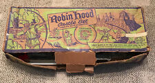 MARX  ROBIN HOOD CASTLE SET  4718  BOX AND CASTLE ONLY  C. 1960  SEARS STICKER