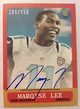 Marqise Lee 2014 Topps 1959 '59 Mini RC on-card Auto #'d 106/150 - JAGUARS