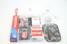 Supreme Accessories Bundle Lot - Master Lock Zip Pouch Keyback Bandaids and More
