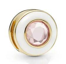 Shine Reflexions Clip de circulo blanco reluciente para pulsera Reflexions s925
