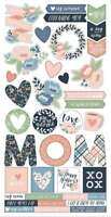 "Simple Sets Mom's Day Cardstock Stickers 6""X12""   811958032995"