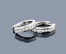 Pendientes Diamantes 14 K Oro Blanco 0,91 Quilates Aros Wesselton Nuevo