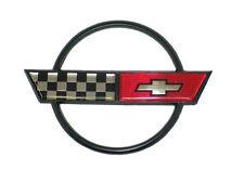 1984 - 1990 Corvette Fuel Door Emblem. New GM Restoration Part