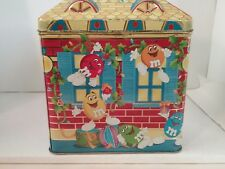 M&M Tin Box Storage Christmas Village Series Limited Edition 1996 Toy Shop # 3