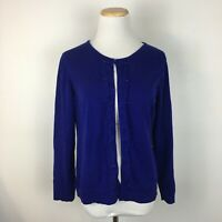 Coldwater Creek Women's Royal Blue Beaded Cardigan Sweater Size L (14-16)